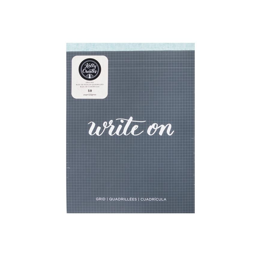 Bloc de papier quadrillé pour lettering Kelly Creates GRID PAD par American Crafts. Scrapbooking et loisirs créatifs. Livrais...