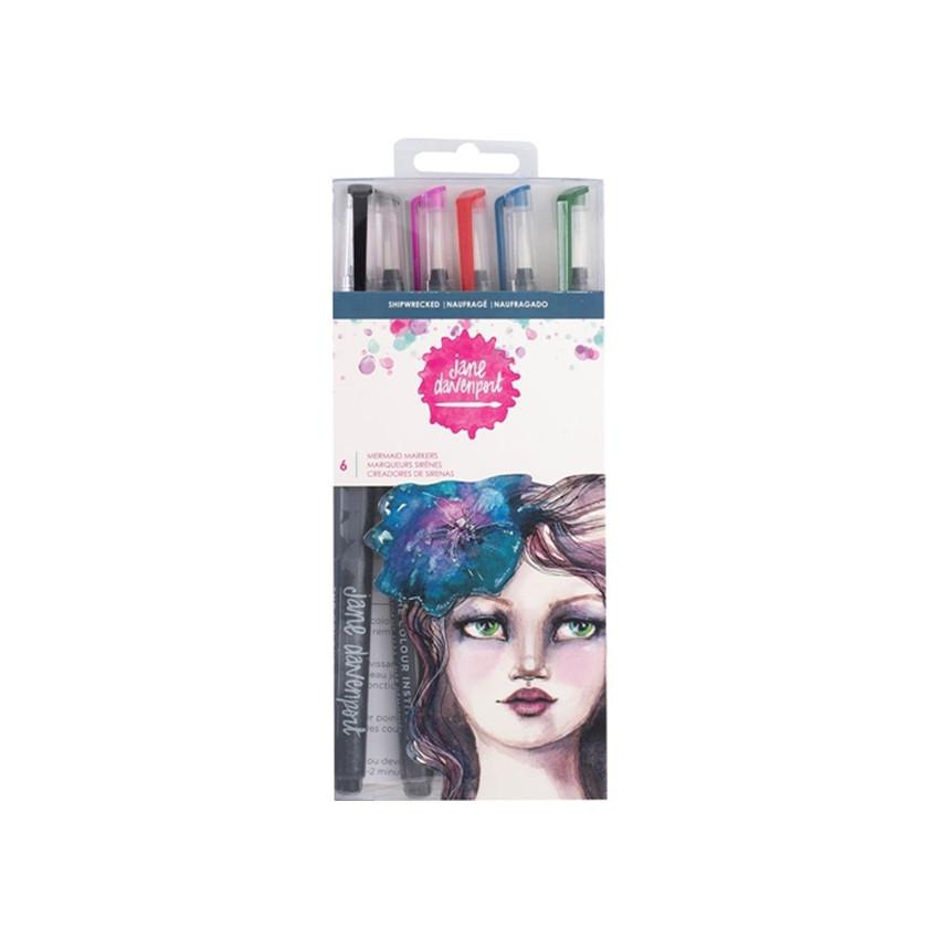 Pinceaux aquarelle Mermaid Markers Jane Davenport SHIPWRECK par American Crafts. Scrapbooking et loisirs créatifs. Livraison ...