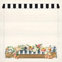 Papier imprimé Spring Market HOME DELIVERY par Carta Bella. Scrapbooking et loisirs créatifs. Livraison rapide et cadeau dans...