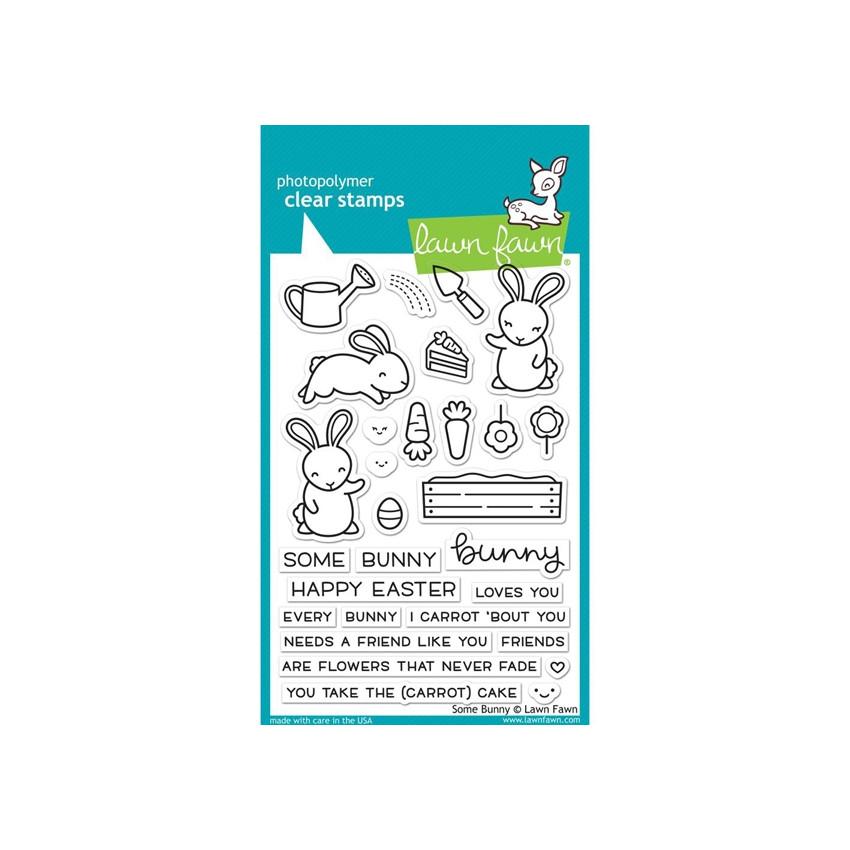 Tampons clear SOME BUNNY par Lawn Fawn. Scrapbooking et loisirs créatifs. Livraison rapide et cadeau dans chaque commande.