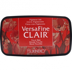 Encre Versafine Clair TULIP RED par Tsukineko. Scrapbooking et loisirs créatifs. Livraison rapide et cadeau dans chaque comma...