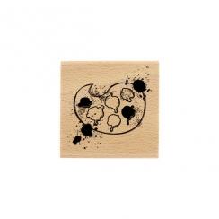 PROMO de -50% sur Tampon bois PALETTE DE COULEURS Florilèges Design