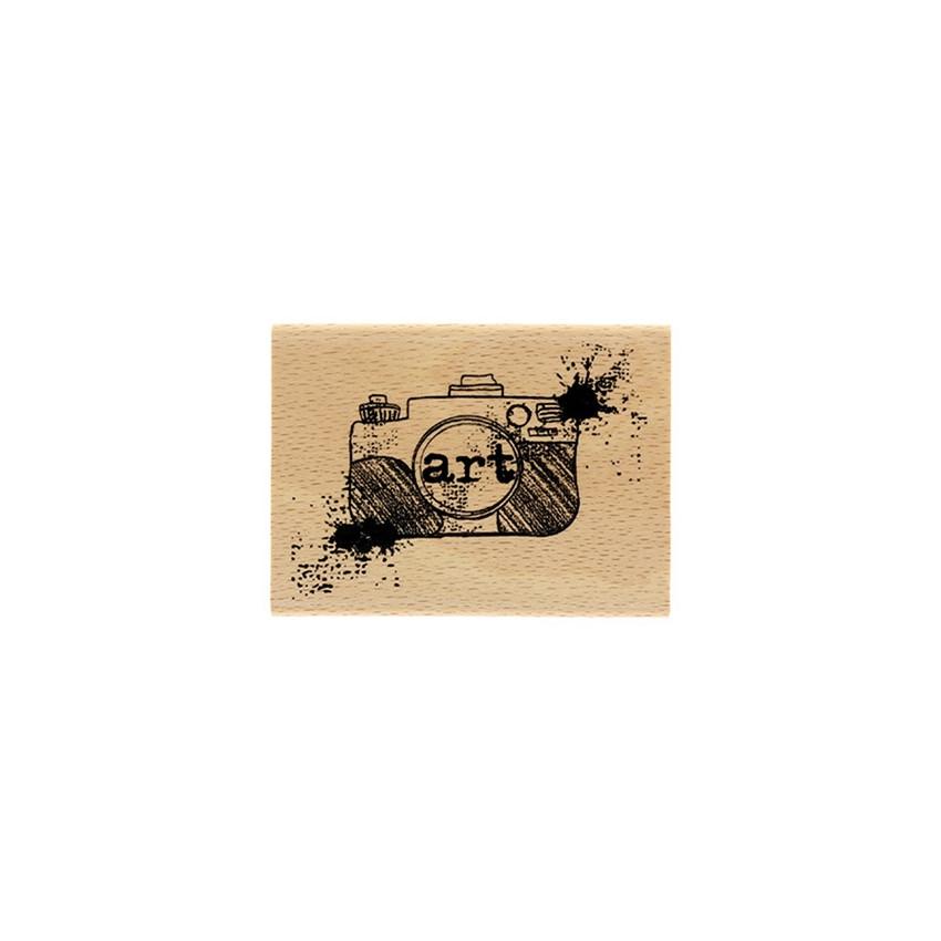 Tampon bois CLICHÉ D'ART par Florilèges Design. Scrapbooking et loisirs créatifs. Livraison rapide et cadeau dans chaque comm...