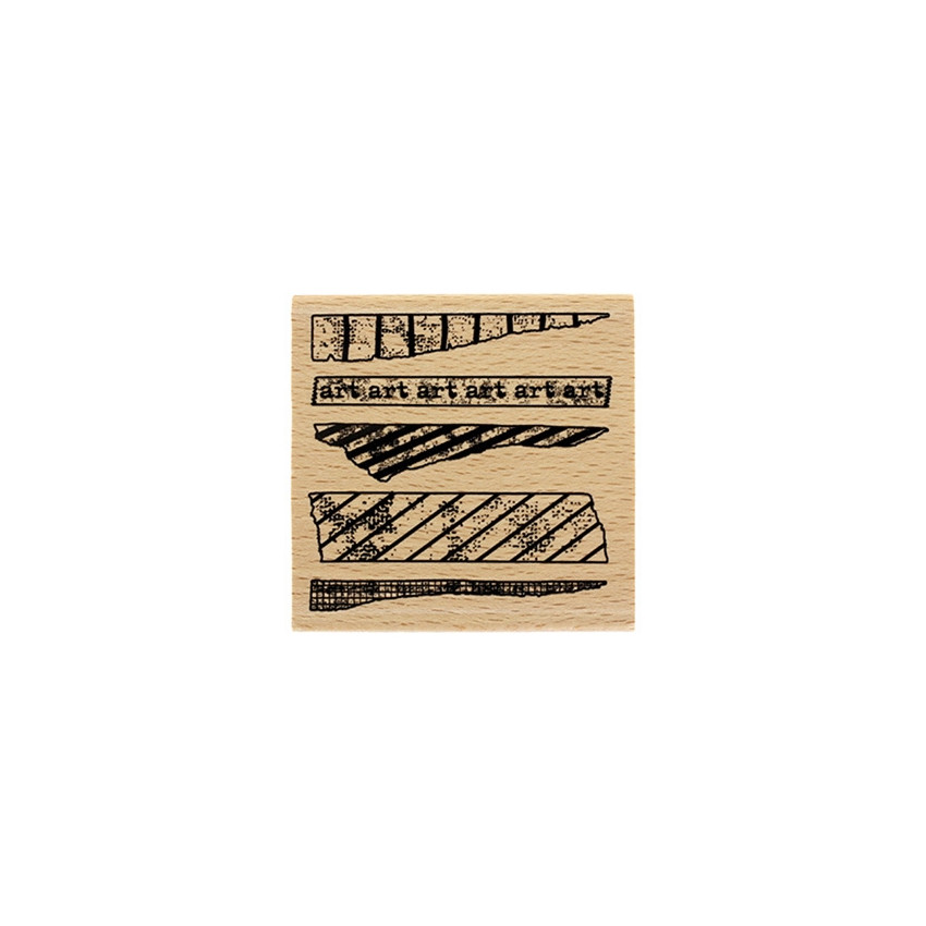 Tampon bois ART TAPE par Florilèges Design. Scrapbooking et loisirs créatifs. Livraison rapide et cadeau dans chaque commande.