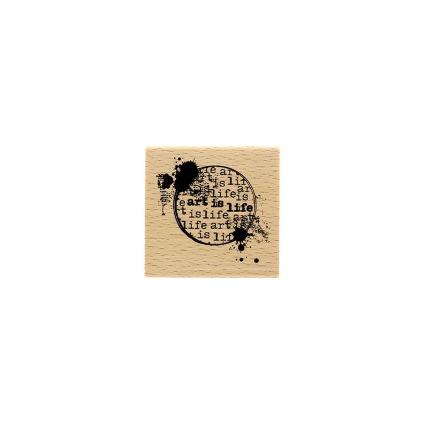 Tampon bois ART IS LIFE par Florilèges Design. Scrapbooking et loisirs créatifs. Livraison rapide et cadeau dans chaque comma...