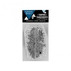 Tampons clear MINI TEXTE MOUCHETÉ par Florilèges Design. Scrapbooking et loisirs créatifs. Livraison rapide et cadeau dans ch...