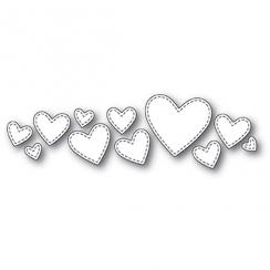 Outils de découpe SPLENDID STITCHED HEARTS par Poppy Stamps. Scrapbooking et loisirs créatifs. Livraison rapide et cadeau dan...
