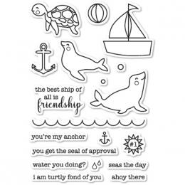 Tampons clear SEAL OF APPROVAL par Memory Box. Scrapbooking et loisirs créatifs. Livraison rapide et cadeau dans chaque comma...