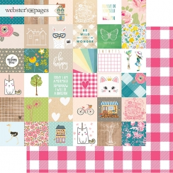 PROMO de -30% sur Papier imprimé My Happy Place HAPPY SQUARES Webster's Pages