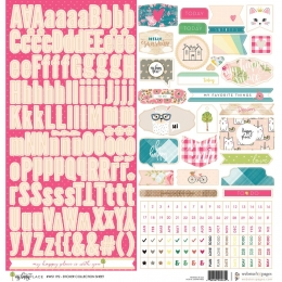 PROMO de -30% sur Planche de stickers 30,5 x 30,5 cm MY HAPPY PLACE Webster's Pages