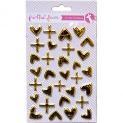 Stickers puffy métallisés GOLD
