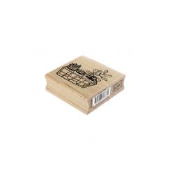 Tampon bois TROIS PLANTES par Florilèges Design. Scrapbooking et loisirs créatifs. Livraison rapide et cadeau dans chaque com...