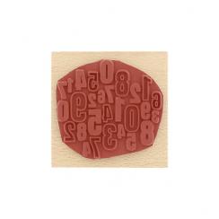 Tampon bois DES CHIFFRES par Florilèges Design. Scrapbooking et loisirs créatifs. Livraison rapide et cadeau dans chaque comm...