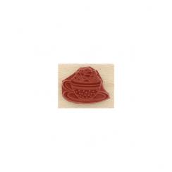 Tampon bois SUCCULENTE EN TASSE par Florilèges Design. Scrapbooking et loisirs créatifs. Livraison rapide et cadeau dans chaq...