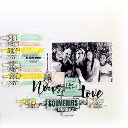 Tampon bois QUATRE TRACES par Florilèges Design. Scrapbooking et loisirs créatifs. Livraison rapide et cadeau dans chaque com...
