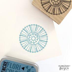 PROMO de -20% sur Tampon bois ROUE CHROMATIQUE Florilèges Design
