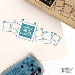 Tampon bois SELECTION DE MOMENTS par Florilèges Design. Scrapbooking et loisirs créatifs. Livraison rapide et cadeau dans cha...