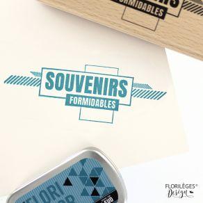 Tampon bois SOUVENIRS FORMIDABLES par Florilèges Design. Scrapbooking et loisirs créatifs. Livraison rapide et cadeau dans ch...