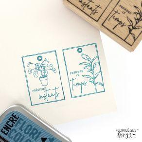 Tampon bois PILÉA ET COMPAGNIE par Florilèges Design. Scrapbooking et loisirs créatifs. Livraison rapide et cadeau dans chaqu...