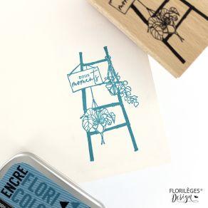 Tampon bois ÉCHELLE DÉCO par Florilèges Design. Scrapbooking et loisirs créatifs. Livraison rapide et cadeau dans chaque comm...