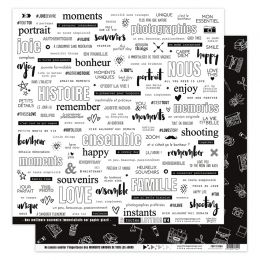 Papier imprimé EN TOUTES LETTRES 4 par Florilèges Design. Scrapbooking et loisirs créatifs. Livraison rapide et cadeau dans c...