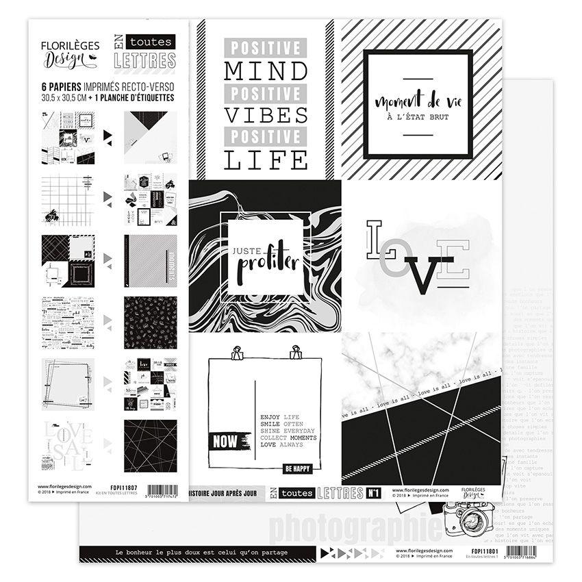 Kit collection EN TOUTES LETTRES par Florilèges Design. Scrapbooking et loisirs créatifs. Livraison rapide et cadeau dans cha...