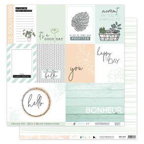 Papier imprimé SOFT & GREEN 3 par Florilèges Design. Scrapbooking et loisirs créatifs. Livraison rapide et cadeau dans chaque...