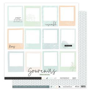 Papier imprimé SOFT & GREEN 4 par Florilèges Design. Scrapbooking et loisirs créatifs. Livraison rapide et cadeau dans chaque...