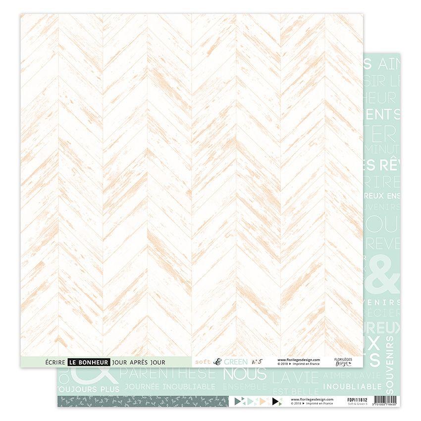 Papier imprimé SOFT & GREEN 5 par Florilèges Design. Scrapbooking et loisirs créatifs. Livraison rapide et cadeau dans chaque...