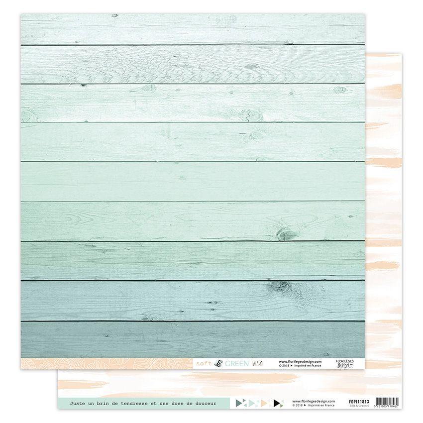 Parfait pour créer : Papier imprimé SOFT & GREEN 6 par Florilèges Design. Livraison rapide et cadeau dans chaque commande.