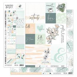 Kit collection SOFT & GREEN par Florilèges Design. Scrapbooking et loisirs créatifs. Livraison rapide et cadeau dans chaque c...
