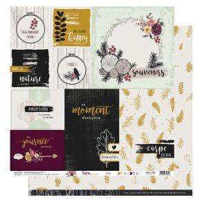 Papier imprimé GYPSY FOREST 2 par Florilèges Design. Scrapbooking et loisirs créatifs. Livraison rapide et cadeau dans chaque...