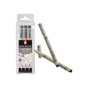 PIGMA MICRON NOIR Boite de 3 stylos feutres