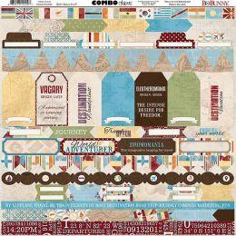 Stickers 30,5 x 30,5 TRAVELER par Bo Bunny. Scrapbooking et loisirs créatifs. Livraison rapide et cadeau dans chaque commande.