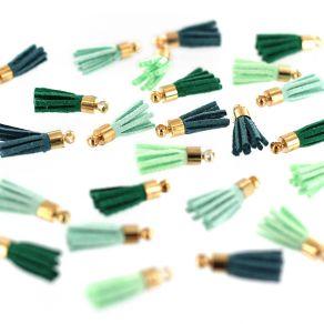 Mini pompons SOFT & GREEN par Florilèges Design. Scrapbooking et loisirs créatifs. Livraison rapide et cadeau dans chaque com...