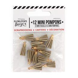 Mini pompons SABLE par Florilèges Design. Scrapbooking et loisirs créatifs. Livraison rapide et cadeau dans chaque commande.