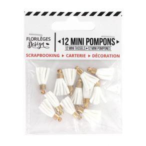 Mini pompons EDELWEISS par Florilèges Design. Scrapbooking et loisirs créatifs. Livraison rapide et cadeau dans chaque commande.