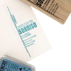 Tampon bois italien SORRIDERE OGNI GIORNO