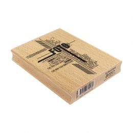 Tampon bois italien LE TRACCE DEL TEMPO par Florilèges Design. Scrapbooking et loisirs créatifs. Livraison rapide et cadeau d...