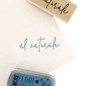 Tampon bois italien SEMPLICEMENTE AL NATURALE par Florilèges Design. Scrapbooking et loisirs créatifs. Livraison rapide et ca...