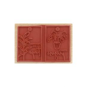 Tampon bois italien PILEA E TAG par Florilèges Design. Scrapbooking et loisirs créatifs. Livraison rapide et cadeau dans chaq...