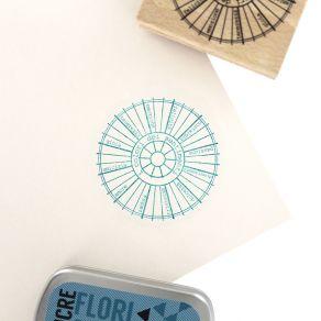 Tampon bois italien RUOTA CROMATICA par Florilèges Design. Scrapbooking et loisirs créatifs. Livraison rapide et cadeau dans ...