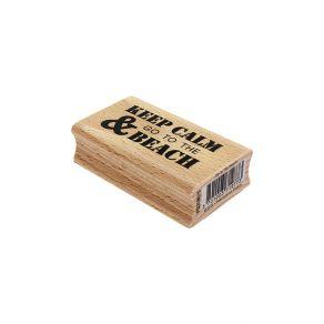 Tampon bois GO TO THE BEACH par Florilèges Design. Scrapbooking et loisirs créatifs. Livraison rapide et cadeau dans chaque c...