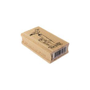 Tampon bois UNE MOUETTE par Florilèges Design. Scrapbooking et loisirs créatifs. Livraison rapide et cadeau dans chaque comma...