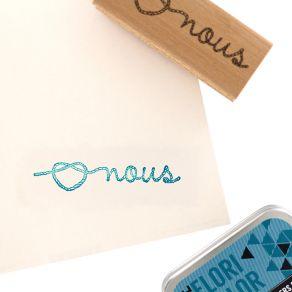 Tampon bois CŒUR MARIN par Florilèges Design. Scrapbooking et loisirs créatifs. Livraison rapide et cadeau dans chaque commande.