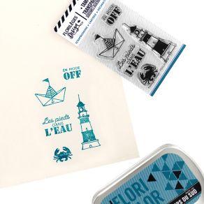 Tampons clear LES PIEDS DANS L'EAU par Florilèges Design. Scrapbooking et loisirs créatifs. Livraison rapide et cadeau dans c...