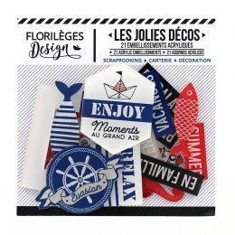 Décos BORD DE MER par Florilèges Design. Scrapbooking et loisirs créatifs. Livraison rapide et cadeau dans chaque commande.