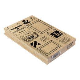 Tampon bois allemand FOTOERINNERUNGEN par Florilèges Design. Scrapbooking et loisirs créatifs. Livraison rapide et cadeau dan...