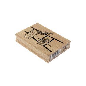 Tampon bois allemand BLUMENLEITER par Florilèges Design. Scrapbooking et loisirs créatifs. Livraison rapide et cadeau dans ch...