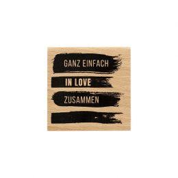 Tampon bois allemand VIER SPUREN par Florilèges Design. Scrapbooking et loisirs créatifs. Livraison rapide et cadeau dans cha...